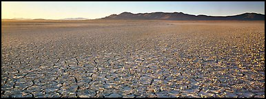 Dry lake bed landscape. Nevada, USA (Panoramic color)