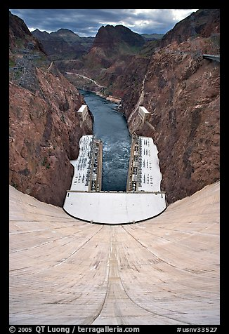 Power plant, Black Canyon, Colorado River. Hoover Dam, Nevada and Arizona (color)