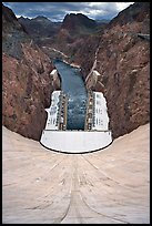 Power plant, Black Canyon, Colorado River. Hoover Dam, Nevada and Arizona ( color)