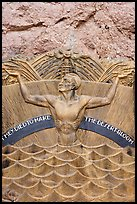 Memorial in Art Deco style to accident victims during the construction. Hoover Dam, Nevada and Arizona