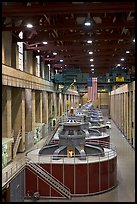 Generators in the power plant. Hoover Dam, Nevada and Arizona ( color)
