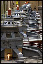 Electrical generators in power plant. Hoover Dam, Nevada and Arizona ( color)