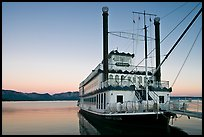 Tahoe Queen paddle boat at dawn, South Lake Tahoe, Nevada. USA ( color)