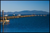 Long pier, South Lake Tahoe, Nevada. USA