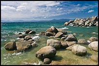 Boulders in lake, Sand Harbor, East Shore, Lake Tahoe, Nevada. USA