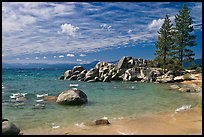 Beach and rocks, Lake Tahoe-Nevada State Park, Nevada. USA ( color)