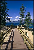 Boardwalk, Lake Tahoe-Nevada State Park, Nevada. USA (color)