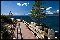 Boardwalk by lake, Sand Harbor, East Shore, Lake Tahoe, Nevada. USA ( color)
