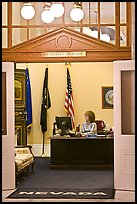 Office of the Secretary of State inside Nevada State Capitol. Carson City, Nevada, USA