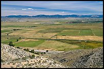 Agricultural lands, Carson Valley. Genoa, Nevada, USA ( color)