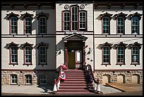 Historic fourth ward school facade. Virginia City, Nevada, USA (color)