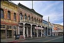 Historic buildings. Virginia City, Nevada, USA