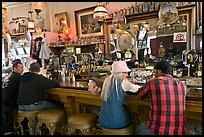 Saloon bar. Virginia City, Nevada, USA (color)