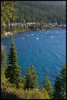 Incline Village, North shore, Lake Tahoe, Nevada. USA (color)