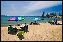 Sandy beach on East shore, Lake Tahoe-Nevada State Park, Nevada. USA ( color)