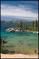 Sandy Cove, Lake Tahoe-Nevada State Park, Nevada. USA ( color)