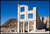Ruined bank in  Ryolite ghost town. Nevada, USA ( color)