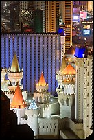 Excalibur towers from above. Las Vegas, Nevada, USA