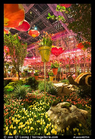 Botanical gardens inside Bellagio Hotel. Las Vegas, Nevada, USA