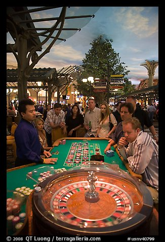 Roulette game. Las Vegas, Nevada, USA (color)