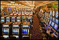 Gaming machines in casino. Las Vegas, Nevada, USA (color)