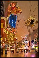Fremont Street and intricate neon sights. Las Vegas, Nevada, USA