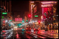 Downtown at night. Reno, Nevada, USA ( color)