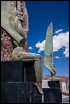Winged Figures of the Republic. Hoover Dam, Nevada and Arizona (color)