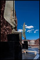 30 feet high bronze figures. Hoover Dam, Nevada and Arizona ( color)