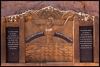 Oskar Hansen memorial. Hoover Dam, Nevada and Arizona ( color)