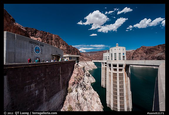 Penstock towers. Hoover Dam, Nevada and Arizona (color)