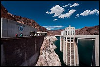 Penstock towers. Hoover Dam, Nevada and Arizona ( color)