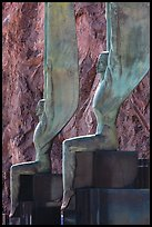 Close-up of Winged Figures of the Republic statues. Hoover Dam, Nevada and Arizona ( color)