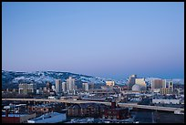 Reno skyline at dawn. Reno, Nevada, USA (color)