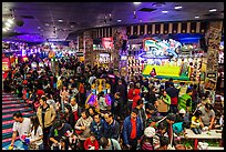 Crowded carnival game area. Reno, Nevada, USA ( color)