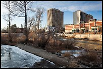 Riverwalk district in winter. Reno, Nevada, USA ( color)