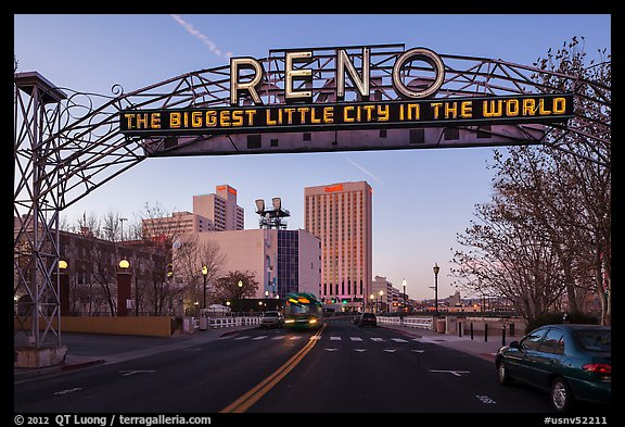 Original Reno Arch. Reno, Nevada, USA (color)