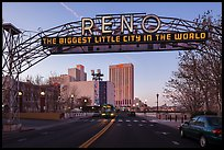 Original Reno Arch. Reno, Nevada, USA ( color)