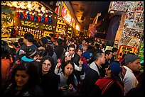 Densely packed crowds in circus arcade. Reno, Nevada, USA (color)