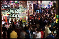Holiday crowds in carnival game area. Reno, Nevada, USA (color)