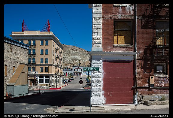 Historic buildings. Nevada, USA (color)
