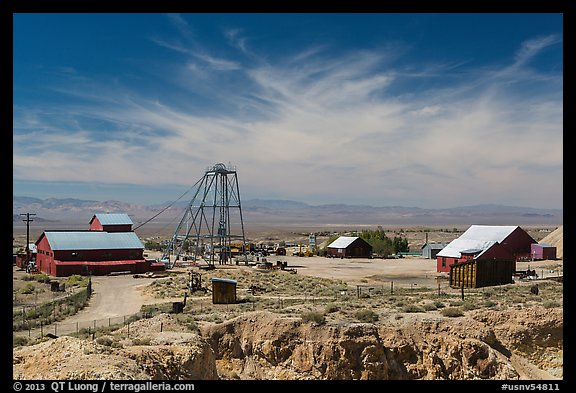 Tonopah historic mining park. Nevada, USA (color)