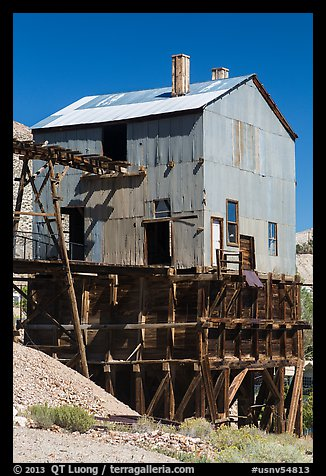 Mining building. Nevada, USA (color)