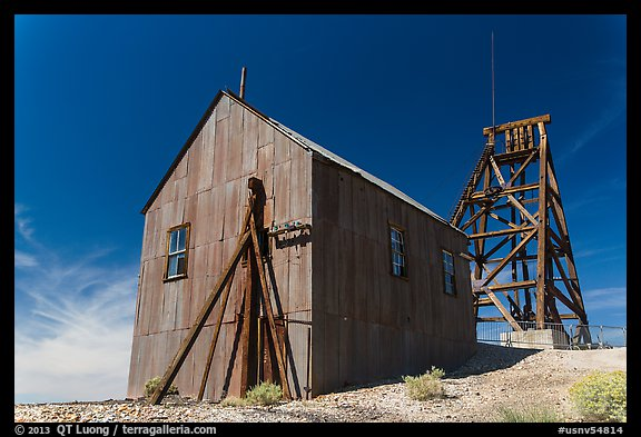 Mining structures. Nevada, USA (color)