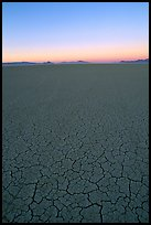 Dried mud lakebed, dawn, Black Rock Desert. Nevada, USA ( color)
