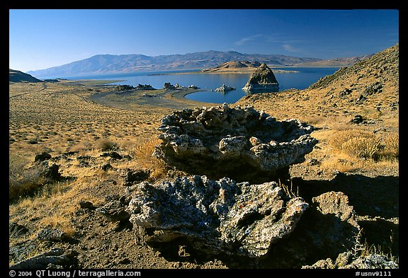 Tufa formations. Pyramid Lake, Nevada, USA (color)