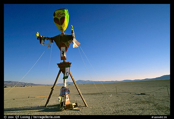 Whimsy sculpture, Black Rock Desert. Nevada, USA (color)