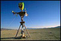 Whimsy sculpture, Black Rock Desert. Nevada, USA ( color)