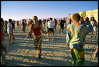 Morning dance, Black Rock Desert. Nevada, USA (color)