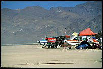 Private airplanes, Black Rock Desert. Nevada, USA ( color)